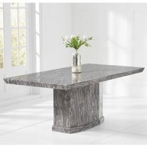 Como 200cm Marble Rectangular Dining Table In Grey