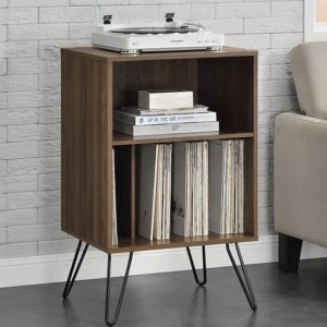 Concord Wooden Bedside Table In Walnut