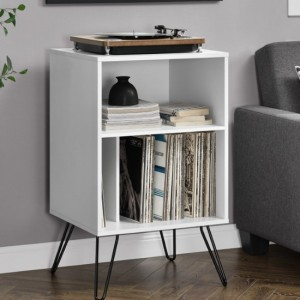 Concord Wooden Bedside Table In White