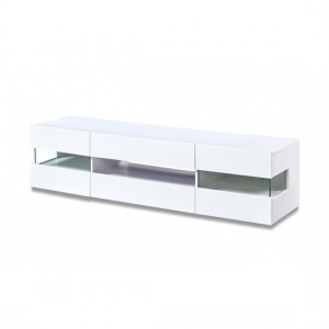 Concorde LED Wooden TV Stand In White High Gloss