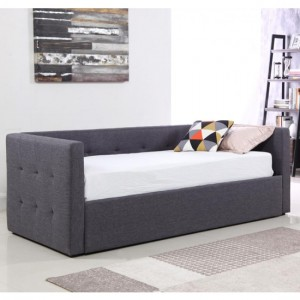 Congo Linen Fabric Day Bed In Grey