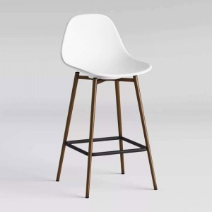 Copley Plastic Counter Bar Stool In White