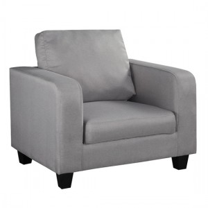 Cores Fabric 1 Seater Sofa In Grey