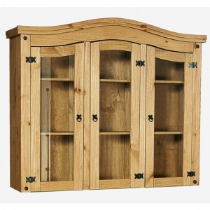 Corona Display Unit In Distressed Pine With 3 Doors