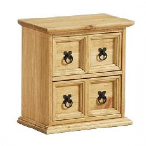 Corona Small Storage Unit In Distressed Pine With 4 Drawers