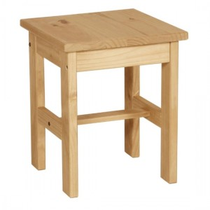 Corona Wooden Dressing Stool In Distressed Pine
