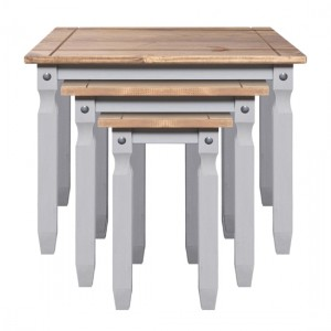Corona Wooden Nest Of Tables In Grey