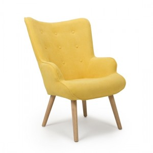 Corsair Fabric Accent Chair In Sunny Yellow