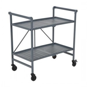 Cosco Intellifit Folding Drinks Trolley In Grey With 2 Shelves