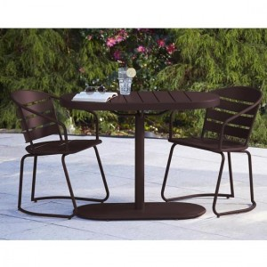 Cosco Intellifit Steel Set Of 3 Bistro Set In Sandy Brown