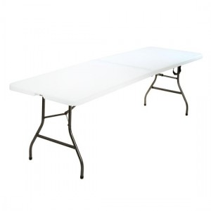 Cosco Large Molded Resin Top Fold-In-Half Dining Table In White