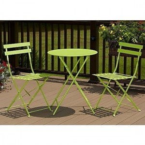 Cosco Steel Set Of 3 Bistro Set In Green