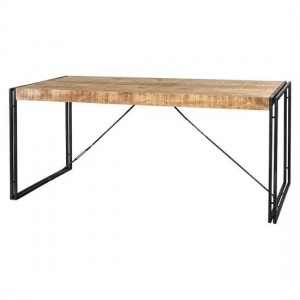 Cosmo Industrial Large Wooden Dining Table In Oak