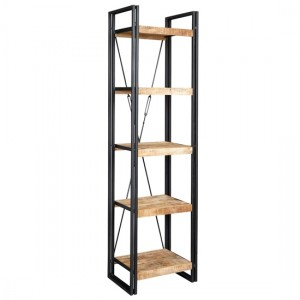 Cosmo Slim Open Bookcase In Reclaimed Wood