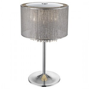Cervantes Palace Luminaire Table Lamp In Chrome And Sliver