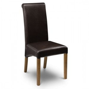 Cuba Faux Leather Dining Chair In Brown