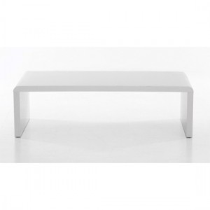 Cutler Wooden Coffee Table In White High Gloss