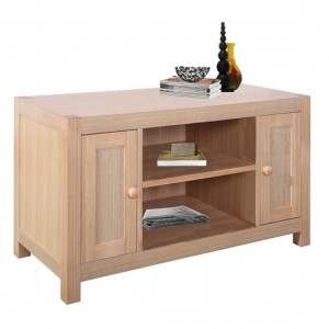 Cyprus Wooden TV Stand In Natural Ash With 2 Doors And 1 Shelf