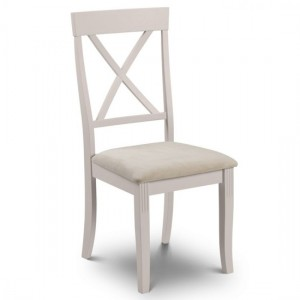 Davenport Wooden Dining Chair In Elephant Grey