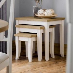 Davenport Wooden Nest Of Tables In Oak And White