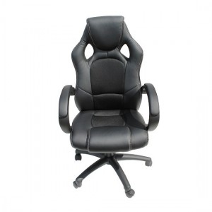Daytona Faux Leather And Fabric Insert Office Chair In Black