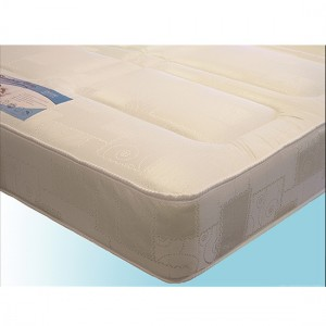 Deluxe Damask Fabric Single Sprung Mattress