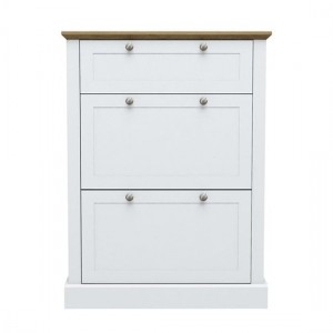 Devon Wooden Shoe Storage Cabinet In White
