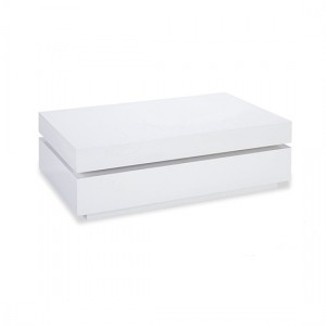 Dibble Wooden Coffee Table In White High Gloss
