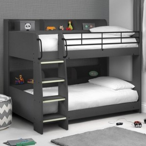 Domino Wooden Bunk Bed In Anthracite
