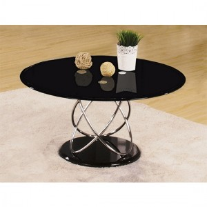 Eclipse Wooden Coffee Table In Black