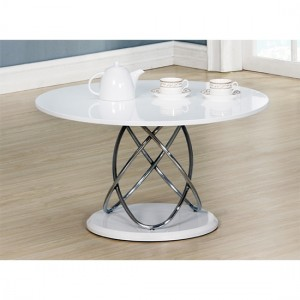 Eclipse Wooden Coffee Table In White