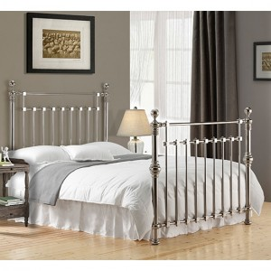 Edward Metal Double Bed In Chrome