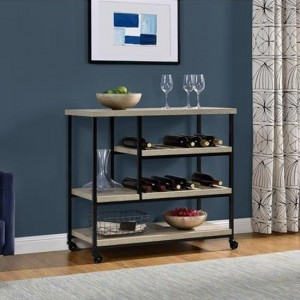 Elmwood Wooden Drinks Trolley In Oak