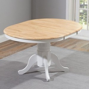 Elstree Extending Wooden Dining Table In Oak And White