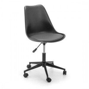 Erika Faux Leather Seat Home And Office Chair In Black
