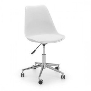 Erika Faux Leather Seat Home And Office Chair In White