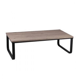 Felix Wooden Coffee Table In Natural with Black Metal Painted Legs