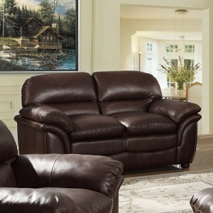 Fernando Bonded Leather 2 Seater Sofa In Brown