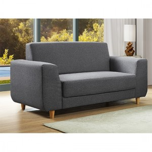 Fida Fabric 2 Seater Sofa In Dark Grey
