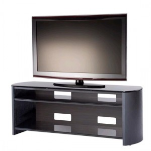Finewoods Large Wooden TV Stand In Black Oak