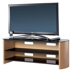Finewoods Large Wooden TV Stand In Light Oak