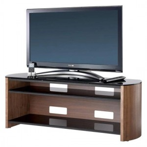 Finewoods Large Wooden TV Stand In Walnut