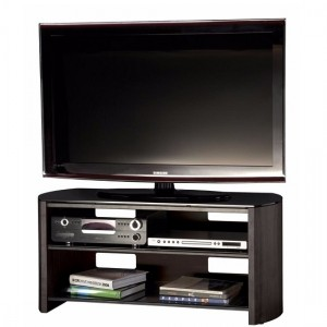 Finewoods Medium Wooden TV Stand In Black Oak