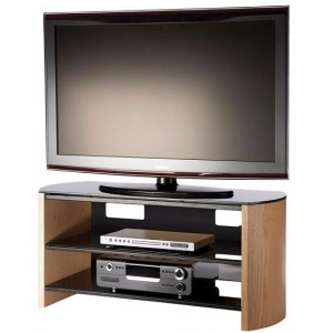 Finewoods Medium Wooden TV Stand In Light Oak