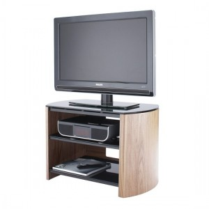 Finewoods Small Wooden TV Stand In Light Oak