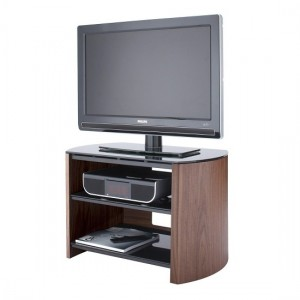 Finewoods Small Wooden TV Stand In Walnut