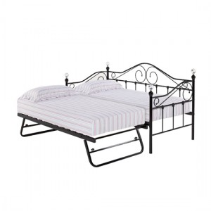 Florence Metal Day Bed And Guest Bed In Black