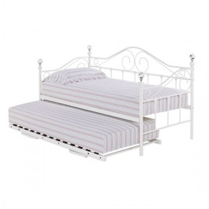 Florence Metal Day Bed And Guest Bed In White