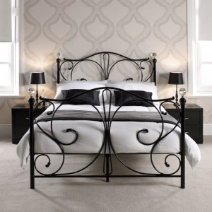Florence Metal Double Bed In Black