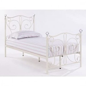 Florence Metal Single Bed In White